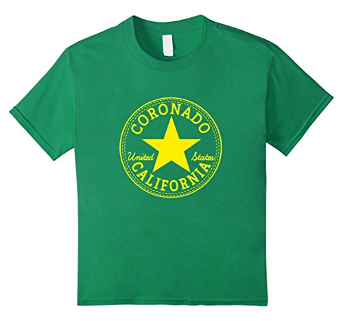 Kids CORONADO California USA United States T-Shirt Relaxed Fit 4 Kelly - For Coronado Kids