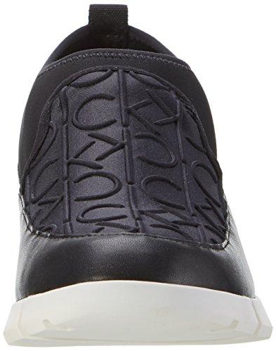 Calvin Hautes CK Femme Winona Neop Neoprene Blk Klein Emboss Sneakers Noir qE0nqrwZ6x