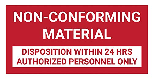 (Safety Sign Wall Decal Vinyl Non Conforming Material Wall Sign Waterproof for Indoor & Outdoor Use 24