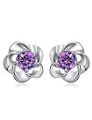 Richy-Glory - 925 Silver flowers shape stud earring