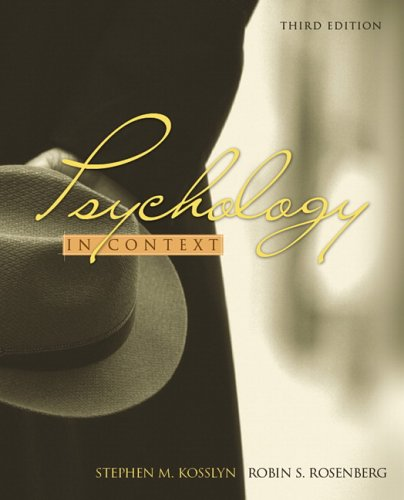 Psychology in Context (3rd Edition)