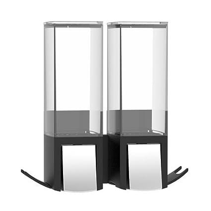 Mejor vida CLEVER2 doble dispensador de jabón (2 x 500 ml de capacidad – fácil
