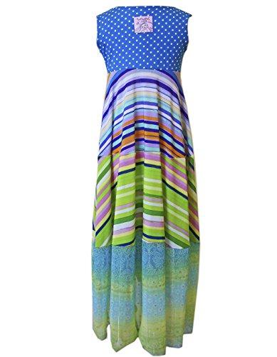 2fe13dd2b2 Amazon.com  TwirlyGirl Maxi Dresses for Kids Girls 70 s Style Cool Stripes  Swirly Colorful  Clothing