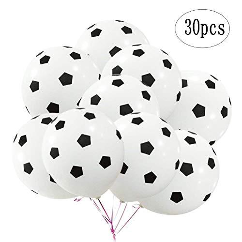 (BinaryABC Soccer Latex Ballons,Football Balloon,Sports Theme Birthday Party)
