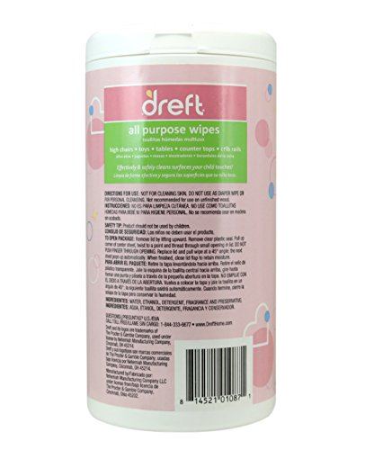 Dreft Multi Surface All Purpose Gentle Cleaning Wipes For