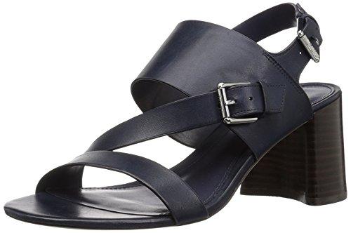 Lauren Ralph Lauren Women's Florin Heeled Sandal, Navy, 9 B US