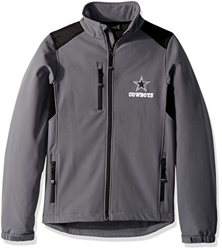 NFL Dallas Cowboys Men's Softshell Jacket, Large, Graphite ()