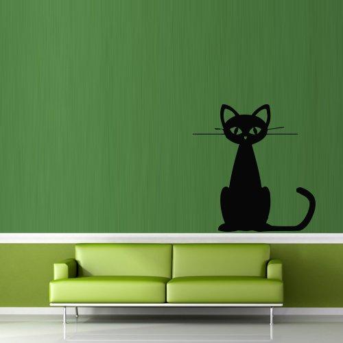 Wall Decal Sticker Vinyl Cat Funny Cartoon Animal Bedroom Room decor room M408 (M408)