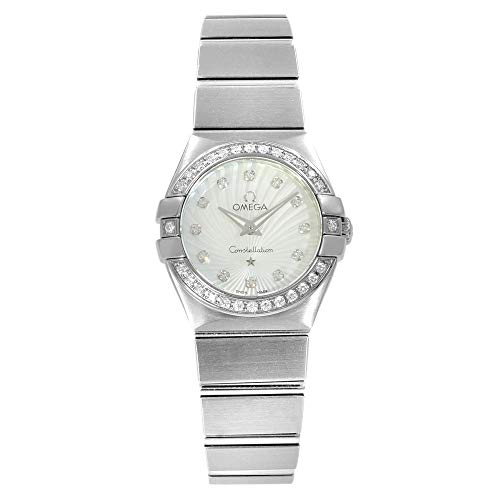 (Omega Constellation 123.15.24.60.55.002 24mm Steel Diamonds Luxury)