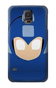 E1839 Megaman Minimalist Funda Carcasa Case para Samsung Galaxy S5