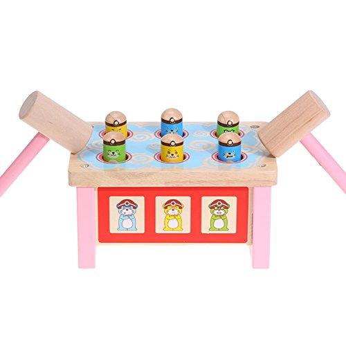 たたきゲーム ノックアウト おもちゃ ネズミを打つ 土竜叩き 幼児 木製 槌で打つ 知育玩具 楽しく プレゼント お誕生日ギフト 出産祝い Prosperveil