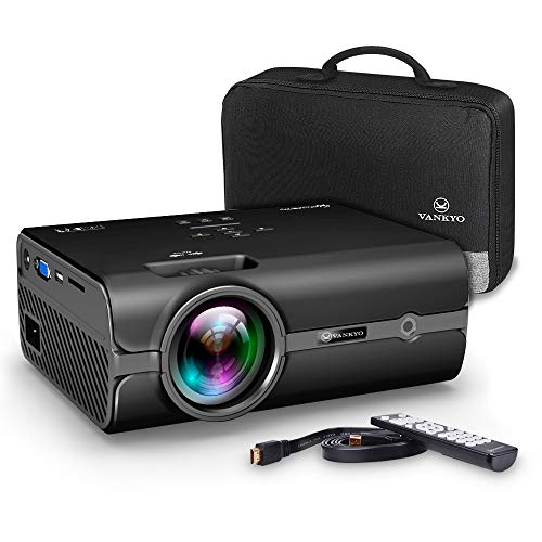 Electronics : VANKYO Portable Projector with 2500 Lux, Support HD 1080P, Mini Projector with USB/SD/AV/HDMI/VGA Input. Come with Free Carrying Bag and HDMI Cable(Black)