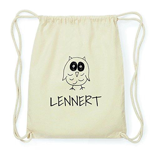 JOllipets LENNERT Hipster Turnbeutel Tasche Rucksack aus Baumwolle Design: Eule