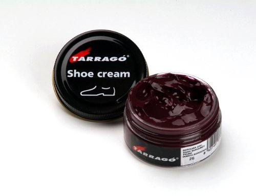 Tarrago Shoe Cream Jar 50Ml. Dark burgundy - Burgundy Leather Shoe Polish