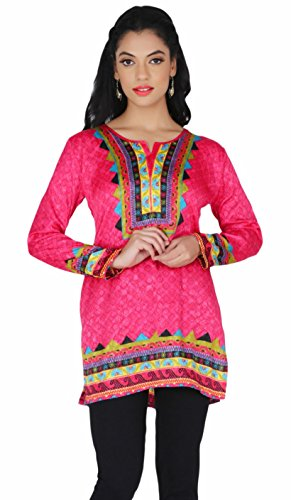Maple Clothing Indian Kurti colorful Tunic Top Printed Womens Blouse India Clothes
