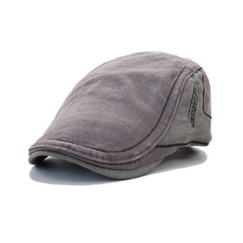 C Gorra y B de hat Hombres para Primavera Sombrero Sombreros de Liso GLLH Sombrero Delantero Sombrero otoño Retro algodón Costura Color Casual en qin ECqg5g