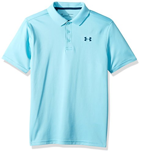 Under Armour Performance Polo - Venetian Blue/Techno Teal, Youth Large