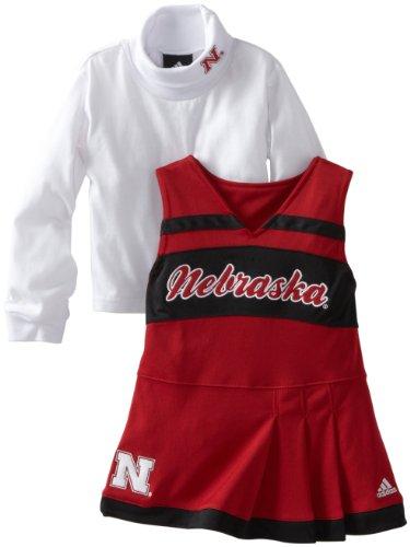 OuterStuff NCAA Nebraska Cornhuskers 4-6x Girls Cheer Jumper Dress with Tank (Red, 5/6)
