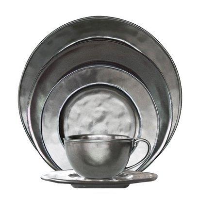 Pewter Stoneware Collection By Juliska - Stoneware - Pewter 5pc Setting ()
