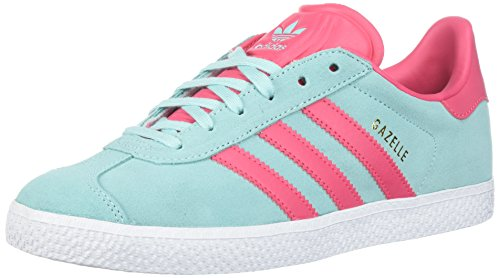 adidas Originals Men's Gazelle J Sneaker, Energy Aqua/Super Pink/Metallic Gold, 7 Medium US Big (Aqua Mens Sneakers)