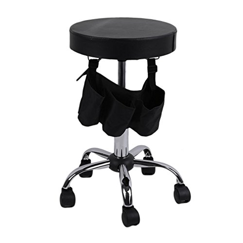 Beauty Salon Rolling Stool Tattoo Massage Facial Spa Adjustable Stool Chair by Graspwind