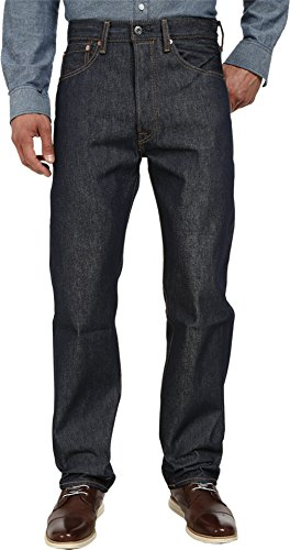 Levi's Men's 501 Original Shrink-to-Fit Jeans, Rigid STF, 31WX30L - Fit Button Fly Jeans