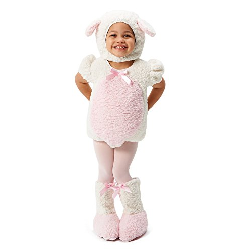 Pink and White Lamb Toddler Costume 2-4T