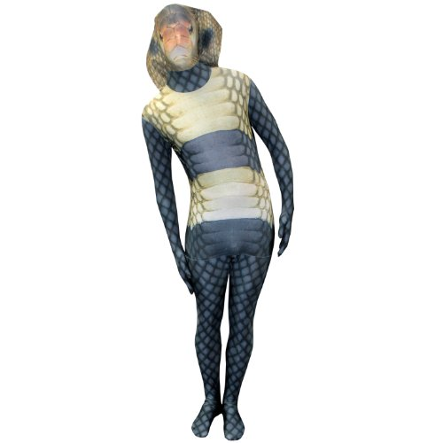 Morphsuits King Cobra Kids Animal Planet Costume - Size Medium 3'6-3'11 (105cm-119cm)]()