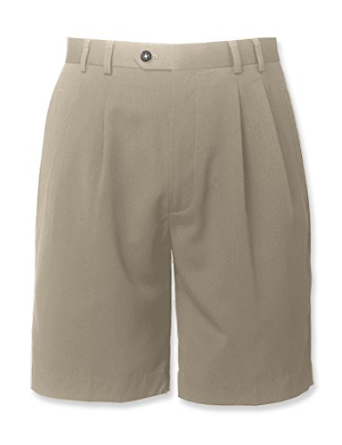 Cutter Buck Gabardine Pleat Shorts Sand 34W