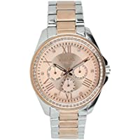 Versus by Versace Women's 'Elmont' Quartz Gold and Stainless Steel Fashion Watch, Color:Two Tone (Model: VSPEB0818)