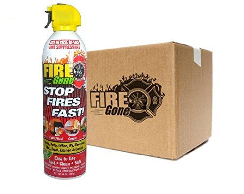 Max-Pro Fire Gone Fire Suppressants - 16oz Units (Case of 12) Afff Foam Fire Extinguisher