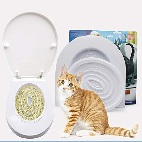 Best Quality – This product belongs to Home – pet cat toilet seat training kit plastic puppy litter potty tray pets cleaning supplies healthy pet cats human toilet – by Melissa – 1 PCs