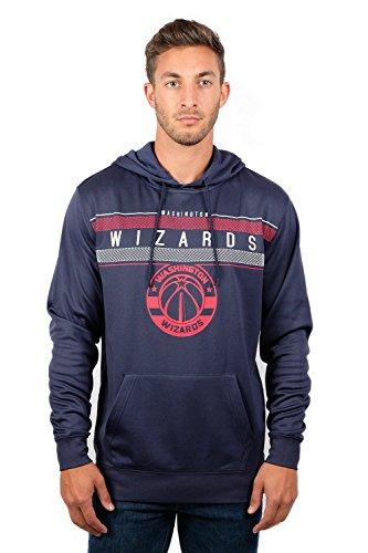 NBA Washington Wizards Men's Fleece Hoodie Pullover Sweatshirt Poly Midtown, Large, Navy