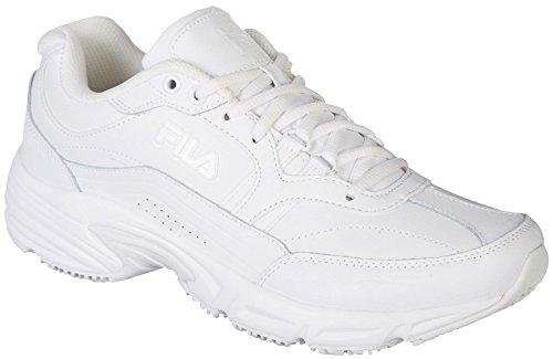 Fila Women's Memory Workshift Cross-Training Shoe,White/White/White,7 M US