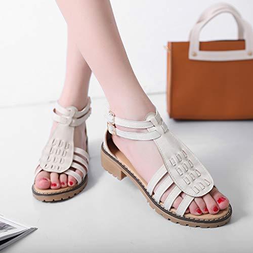 Femme La D'été Sandales Talons Hauts Chaussures À White Pour Femmes Mode daqBWTwtx