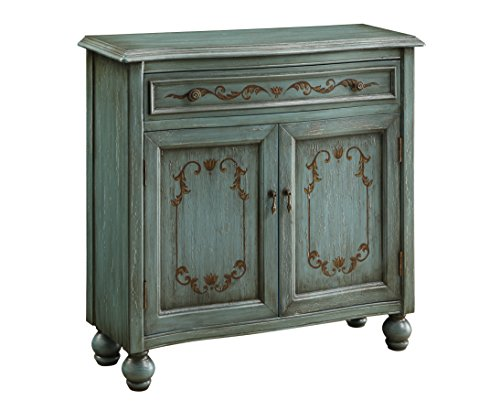 Treasure Trove Accents Accent Chest, Dearington Teal Finish (Of Chest Painted Drawers)
