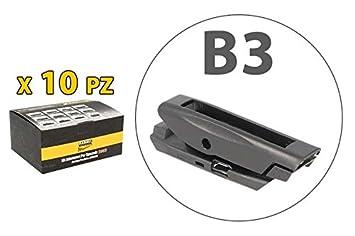 Kit 10 fijaciones Conectores Adaptadores Conectores B3 para escobillas limpiaparabrisas Carall s985: Amazon.es: Coche y moto