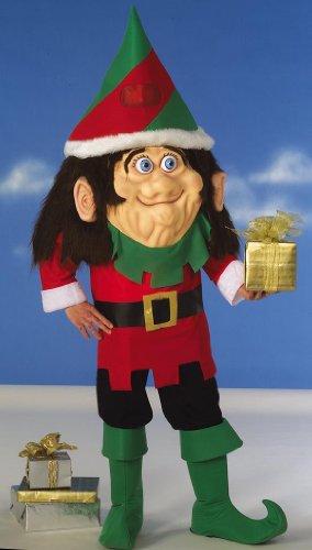 Forum Novelties Men's Parade Pleasers Santa's Elf Big Head Costume, Multi, Standard
