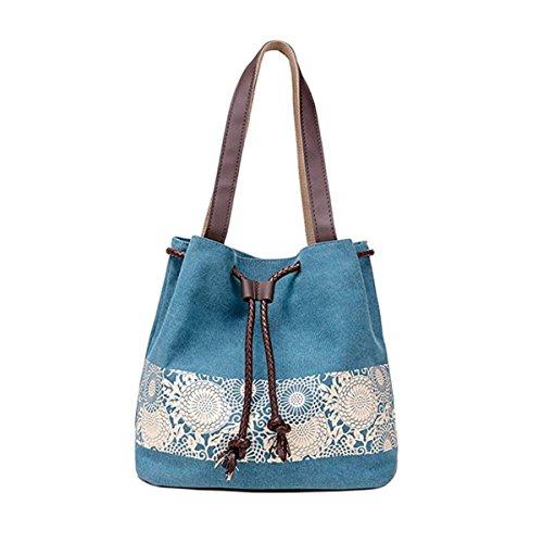 Generic - Bolso de tela de Lona para mujer Small Azul