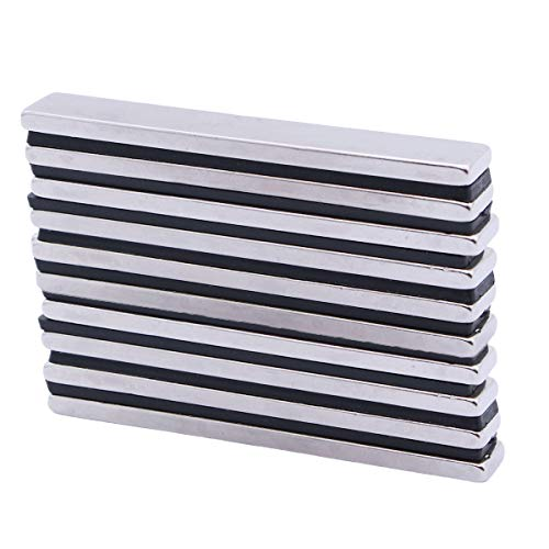 OUNONA 10pcs Neodymium Rectangle Magnets Rare Earth Magnets Strong Permanent Magnets - 60x10x3mm