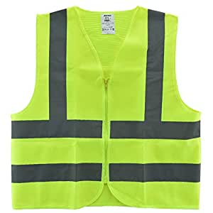 Neiko® 53941A High Visibility Safety Vest, ANSI/ ISEA Standard | Color Neon Yellow | Size L