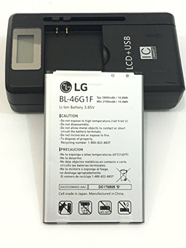 Original battery BL-46G1F 2800/2700mAh For LG K10 2017 K425 K428 K430H K20 Plus TP260 with universal battery charger (Lg Charger Cell Phone)