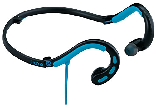 Sdi Technologies Remote Control (iHome Water-resistant Foldable Behind the Neck Sport Earphones with In-line Mic, Remote and Pouch - Black/Blue (IB14BLXC))