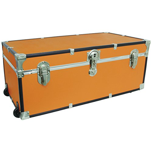 seward-trunks-6113-28-footlocker-trunk-with-paper-lining-and-wheels-orange-30-inch