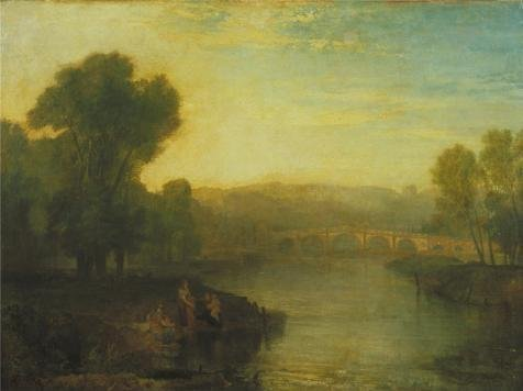 'Joseph Mallord William Turner - View Of Richmond Hill And Bridge,1808' Oil Painting, 24x32 Inch / 61x82 Cm ,printed On High Quality Polyster Canvas ,this Reproductions Art Decorative Prints On (Dormouse Costume Ideas)