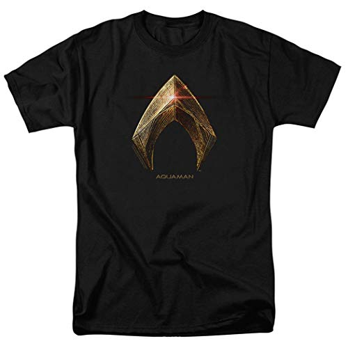 Justice League Movie Aquaman Logo DC Comics T Shirt & Exclusive Stickers - League Justice Aquaman