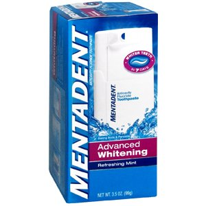 MENTADENT ADVANCED WHITENING CHURCH COMPANY