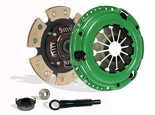 Clutch Kit works with Honda Civic Delsol Acura El DX LX EX GX SI VX EX-R CX Reverb VALUE 1992-2005 1.5L l4 1.6L l4 1.7L l4 GAS SOHC Naturally Aspirated (6 Pucks Clutch Disc Stage 3; D15; D16; D17)