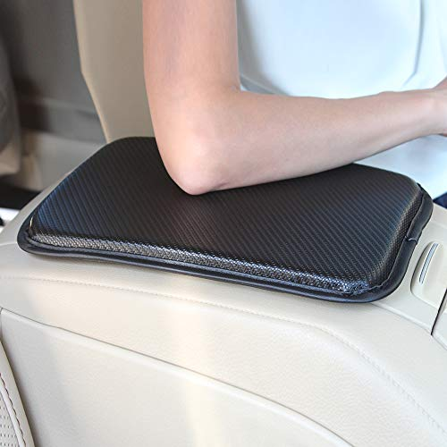 GAMPRO Luxury PU Soft Leather Car Center Console Cushion(11x 8.6 inches) Vehicle Seat Cushions Armrest Pillow Pad for Car Motor Auto Vehicle, Raises Your Center Console (Black1)