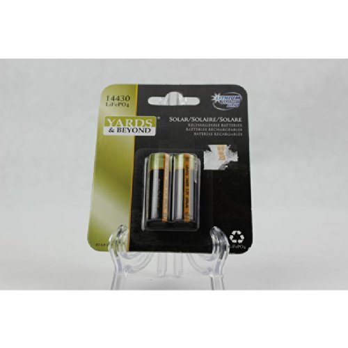 400 Mah Lithium Phosphate Rechargeable Batteries YARDS AND BEYOND 873046003461